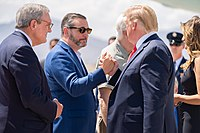 Cruz and then-President Donald Trump in 2019