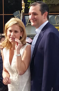Cruz with his wife, Heidi, at a rally in Houston, March 2015