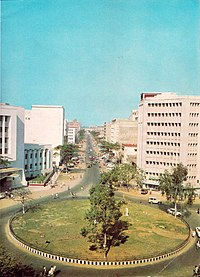 Central business district in Dacca, 1960s