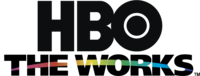 """Multiplex package logo under the """"HBO The Works"""" brand, used from April 1998 to December 2004. The arc—shown within """"THE WORKS"""" lettering with rainbow coloring—was used as a name separator in the thematic channels' logos (save for HBO2, following its September 2002 name change from """"HBO Plus"""") until April 2014."""