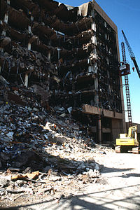 The bombing site on April 21, 1995