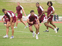 The Maroons training in 2009.