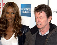 Bowie and wife Iman, 2009