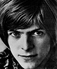 A trade ad photo of Bowie in 1967