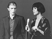Bowie, making his US television debut, performs with Cher on the variety show Cher, 1975
