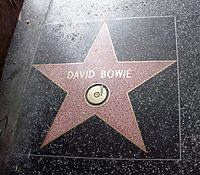 Bowie's star on the Hollywood Walk of Fame