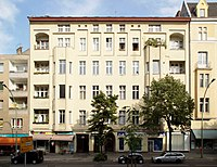 Apartment building at 155, Hauptstraße, Schöneberg, Berlin, where Bowie lived from 1976 to 1978