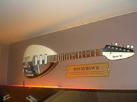 Bowie's Vox Mark VI guitar in the Hard Rock Cafe, Warsaw, Poland