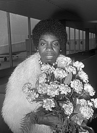 Simone at Amsterdam Airport Schiphol in Amsterdam, Netherlands in March 1969