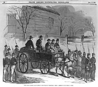 Brown riding on his coffin to the place of execution.