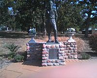 Statue of Brown in front of the John Brown Museum, Osawatomie, Kansas