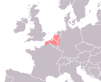 Area in which Old Dutch was spoken
