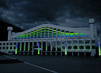 The arena in SSE colours