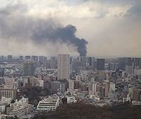 A fire which broke out in Tokyo after the earthquake
