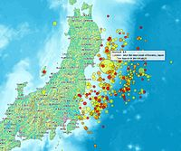Tōhoku earthquake and aftershocks from 11 to 14 March