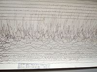 A seismogram recorded in Massachusetts, United States