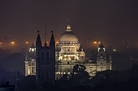 Victoria Memorial is a famous example is Indo-sarasenic architecture.