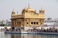 The Golden Temple in Amritsar.