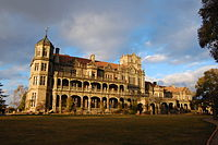 The Viceregal Lodge, now Rashtrapati Niwas, in Shimla designed by Henry Irwin in the Jacobethan style and built in the late 19th century.