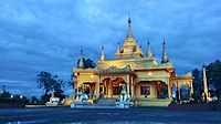 Golden Pagoda in Namsai, completed in 2010.
