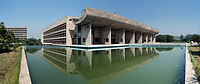 """Palace of Assembly, a part of the Capitol Complex at Chandigarh designed by Le Corbusier.<ref name=""""whc.unesco.org""""/>"""