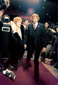 Manilow, accompanied by long-time friend Linda Allen at the premiere of The Rose (starring Bette Midler), November 7, 1979