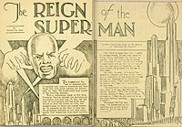"""""""The Reign of the Superman"""", a short story by Jerry Siegel (January 1933)"""