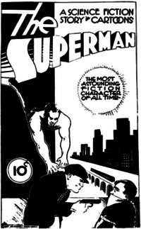 Cover of an unpublished comic book, 1933