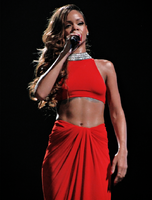 Rihanna performing during the Diamonds World Tour in 2013