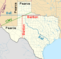Proposals for Texas's northwestern boundary