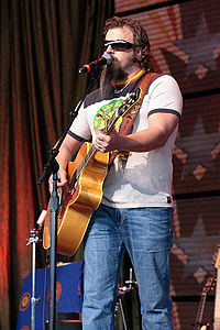 Johnson performing in 2008