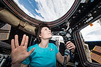 ESA astronaut Samantha Cristoforetti on February 28, 2015, tweeted this photo in a final salute to Leonard Nimoy.