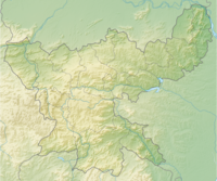 Physical map of Jharkhand