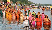 Chhath Puja is one of the most famous festivals in Jharkhand