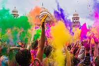 Holi festival is celebrated with great joy and pomp