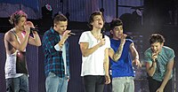 One Direction in Glasgow on their Take Me Home Tour in February 2013