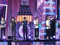 The band performing in East Rutherford, New Jersey on 2 July 2013
