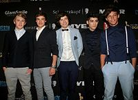One Direction at red carpet of the Logie Awards of 2012 in Melbourne