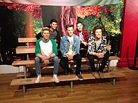 Waxwork of One Direction at Madame Tussauds, London