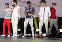 One Direction performing on their Up All Night Tour, April 2012