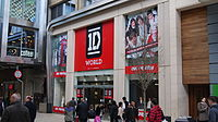 A One Direction merchandising shop in Leeds, Yorkshire in March 2013