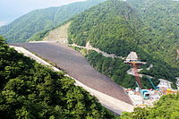 The Tokuyama Dam in Gifu Prefecture is the largest dam in Japan.