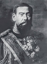 Emperor Meiji (1868–1912), in whose name imperial rule was restored at the end of the Tokugawa shogunate