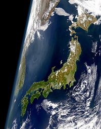 The Japanese archipelago as seen from satellite