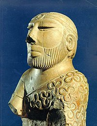 The Priest-King from Mohenjo-daro, more than 4000 years old, in the National Museum of Pakistan, Larkana