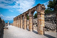 The Grottoes of Catullus, on the Brescian shore of Lake Garda {{nowrap|(Green pog.svg)}}