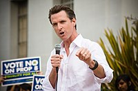 Newsom campaigning against Proposition 8 in 2008
