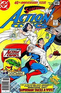 The Earth-Two Lois Lane and Superman, from the cover of Action Comics #484 (June 1978), art by José Luis García-López and Dick Giordano.