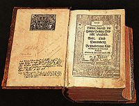 The widespread popularity of the Bible translated into German by Martin Luther helped establish modern German.