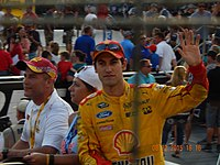 Joey Logano, seen here at Bristol, scored his 12th career victory at Charlotte.